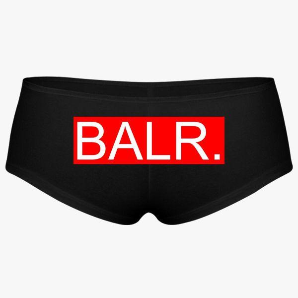 balr logo red pantie - customon