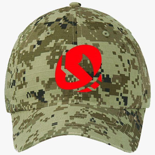 85cadee59b7476 Team skull Ripstop Camouflage Cotton Twill Cap (Embroidered ...
