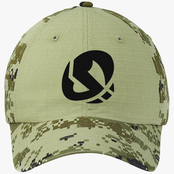 b7c83e7ef5ee06 Team skull Colorblock Camouflage Cotton Twill Cap (Embroidered ...