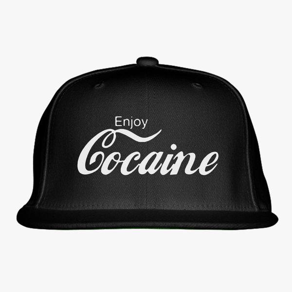 Enjoy Cocaine funny Coke Snapback Hat - Customon.com e74c5caaade