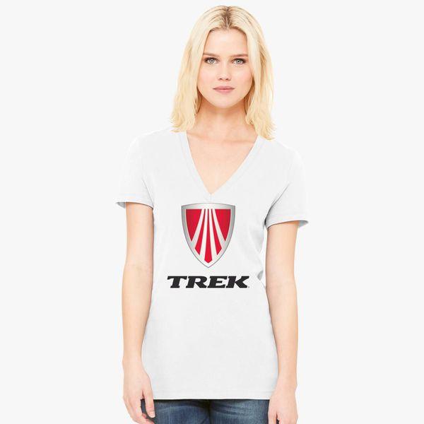584a08fa Trek Bicycles Logo Women's V-Neck T-shirt - Customon