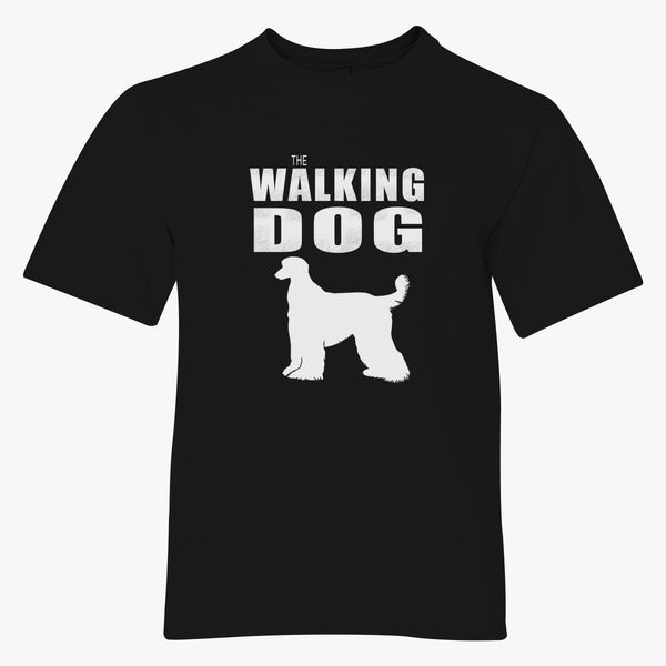 The Walking Dog Afghan Hound Youth T-shirt - Customon