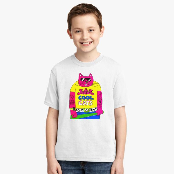 52068c86 Cool Cats - Yellow - Justice Cat Youth T-shirt - Customon