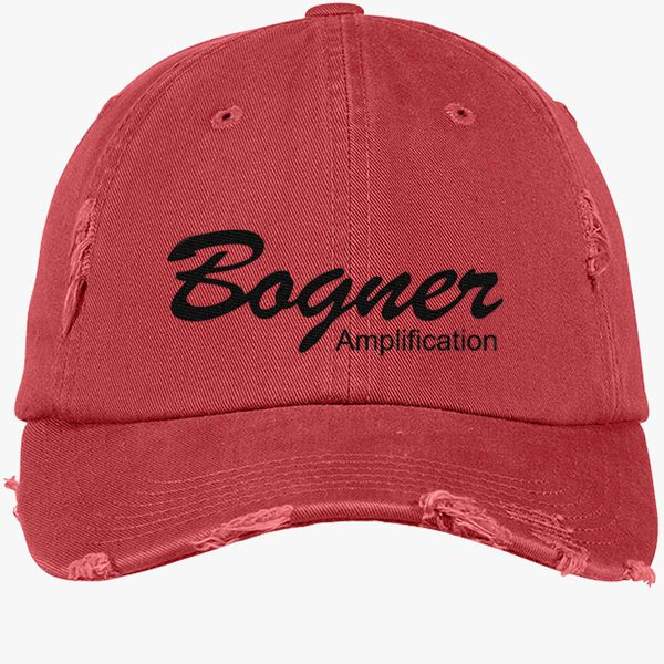 51a9f52bde3 Bogner amplifier (Black) Distressed Cotton Twill Cap - Embroidery +more