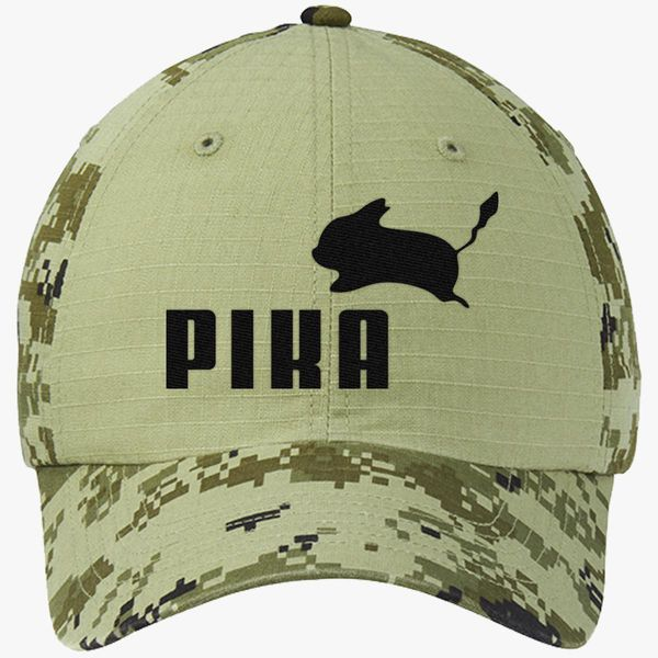 3bbad85a Pika by Puma Colorblock Camouflage Cotton Twill Cap (Embroidered ...