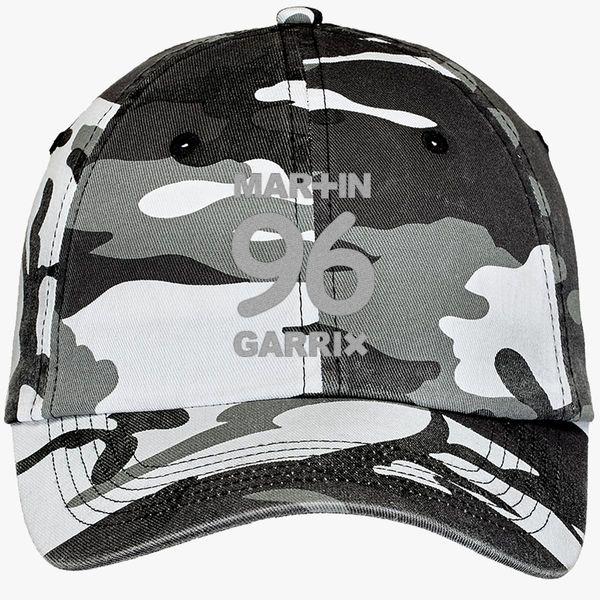 Martin Garrix 96 Camouflage Cotton Twill Cap (Embroidered ... 65eb892609ea