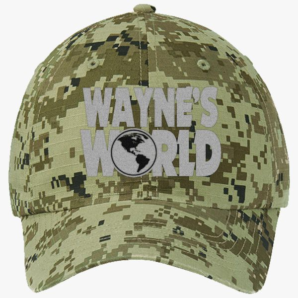 Wayne s World Ripstop Camouflage Cotton Twill Cap (Embroidered ... 9102b2c850e3