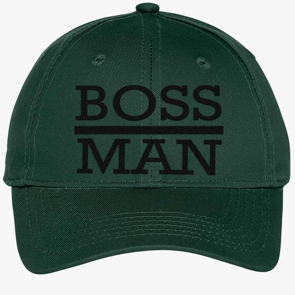 72d99ae039822 boss man Youth Six-Panel Twill Cap (Embroidered) - Customon