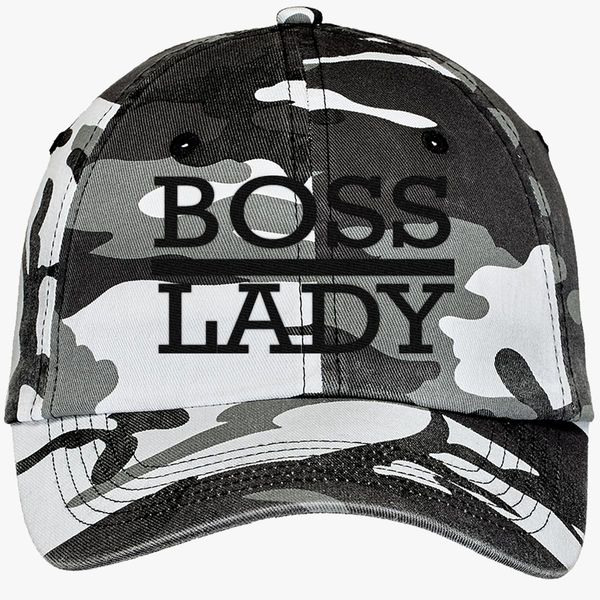 8fec10f43597d boss lady Camouflage Cotton Twill Cap (Embroidered) - Customon