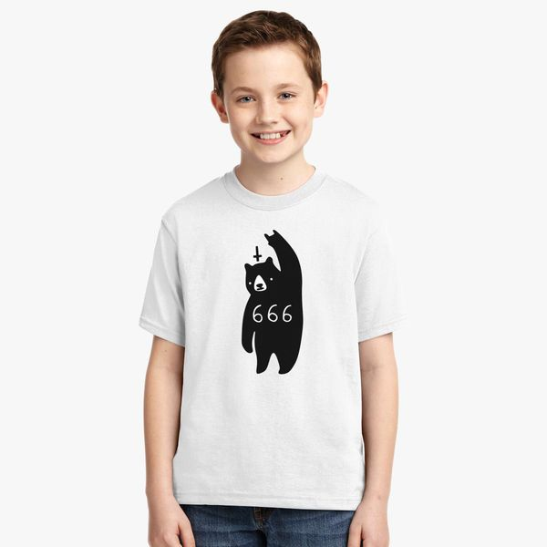 Black Bear Metal Youth T Shirt Customon