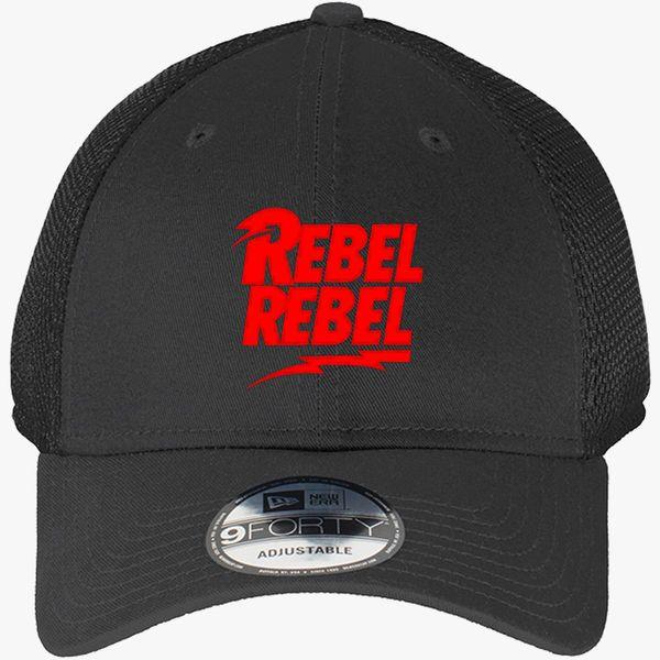 45ac236a764c5e David Bowie Rebel Rebel New Era Baseball Mesh Cap (Embroidered ...