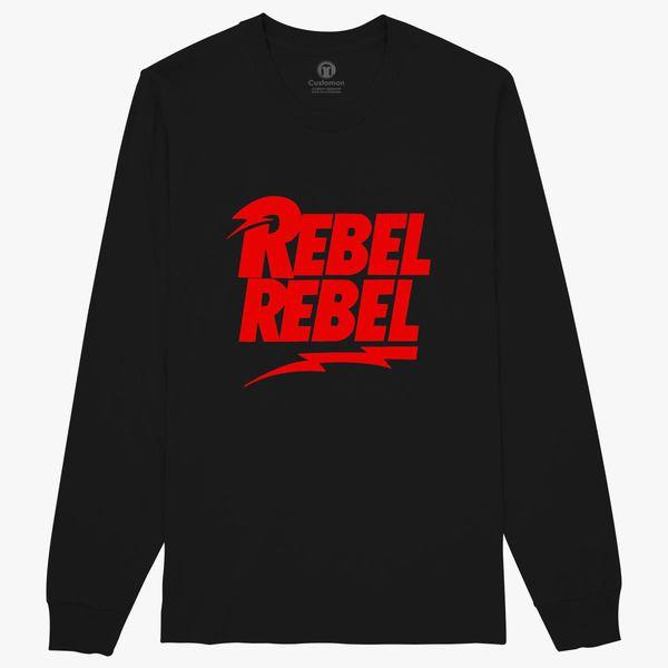 6152a1c44a6c79 David Bowie Rebel Rebel Long Sleeve T-shirt - Customon
