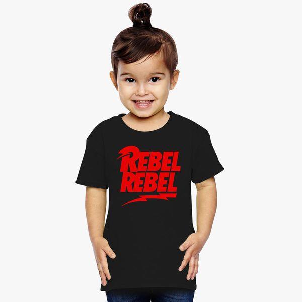 7378ef9aab7d70 David Bowie Rebel Rebel Toddler T-shirt - Customon