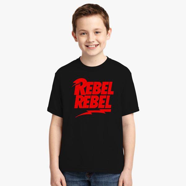 c81be2542ee797 David Bowie Rebel Rebel Youth T-shirt - Customon