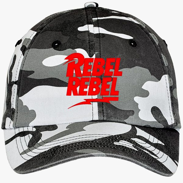 31bff9072e43ad David Bowie Rebel Rebel Camouflage Cotton Twill Cap (Embroidered ...