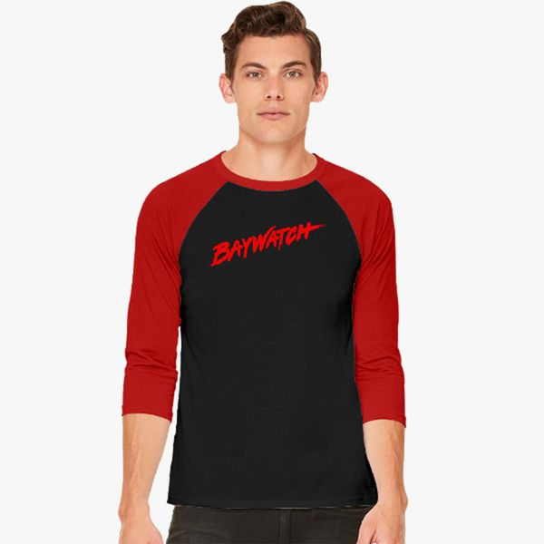 f77e3392a5093 Baywatch Logo Baseball T-shirt - Customon