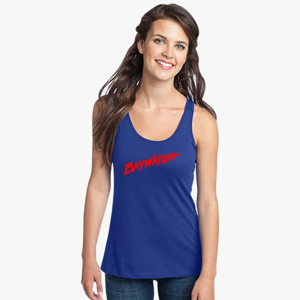 ff6fc672b8362 Baywatch Logo Women s Racerback Tank Top - Customon