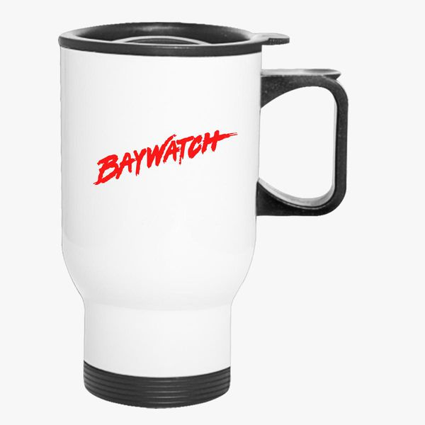 59bd7d67faa46 Baywatch Logo Travel Mug - Customon