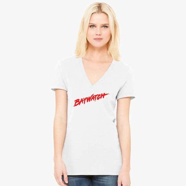 c0dc2b4db328f Baywatch Logo Women s V-Neck T-shirt - Customon
