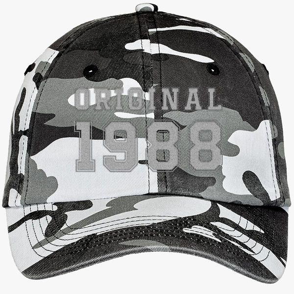 30th Birthday Shirt Camouflage Cotton Twill Cap