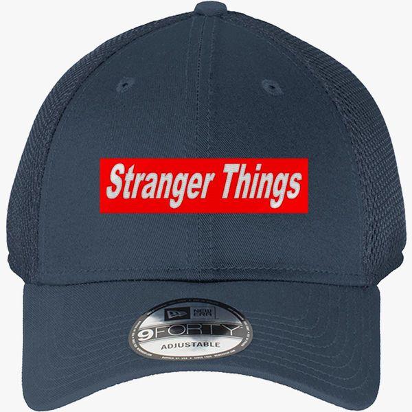 420ad755d84da stranger things New Era Baseball Mesh Cap (Embroidered) - Customon