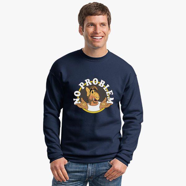 df9f194d156 alf no problem Crewneck Sweatshirt - Customon