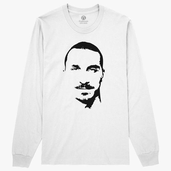 online store 30c9e 97aff The Big Man Zlatan Long Sleeve T-shirt - Customon