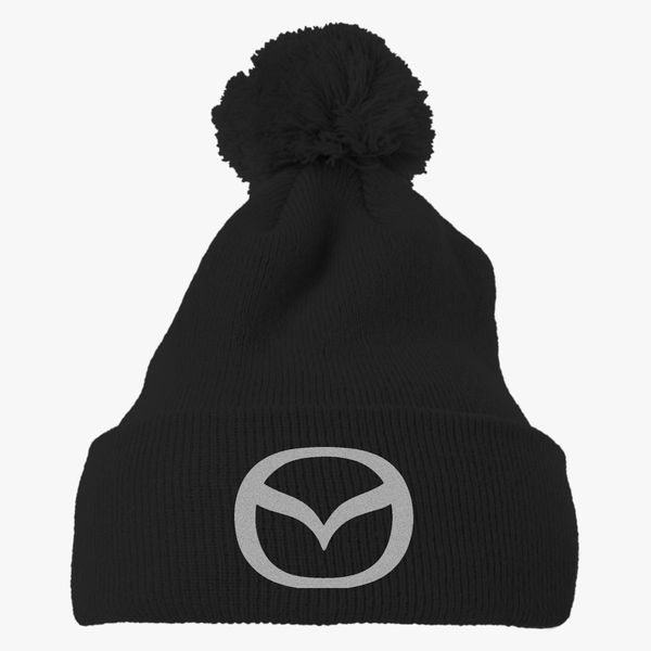 Mazda Knit Pom Cap Embroidered