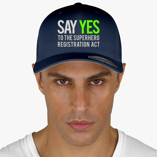 6187b01ae Say yes to the superhero registration act Baseball Cap (Embroidered) -  Customon