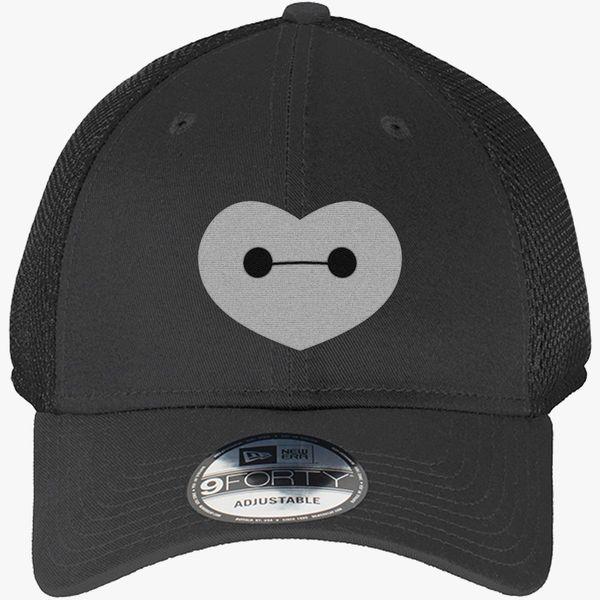 d73055e213938 Big Hero 6 - Baymax Shaped Heart New Era Baseball Mesh Cap - Embroidery
