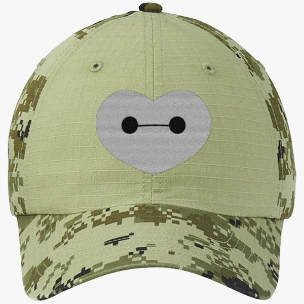 6328fa00a2335 Big Hero 6 - Baymax Shaped Heart Colorblock Camouflage Cotton Twill Cap -  Embroidery