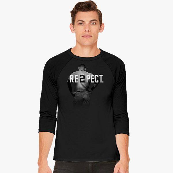 742cb6a5107 Respect Derek Jeter Baseball T-shirt - Customon