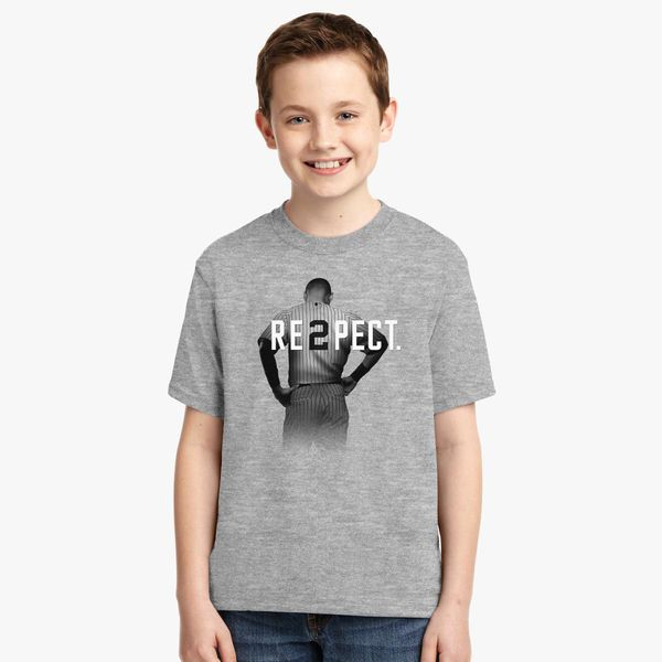 ae05b2001 Respect Derek Jeter Youth T-shirt - Customon