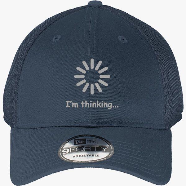 fabbea2e I'm Thinking New Era Baseball Mesh Cap (Embroidered) - Customon
