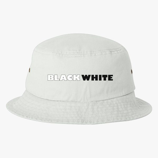 068b0ee7564 Black White Bucket Hat (Embroidered) - Customon
