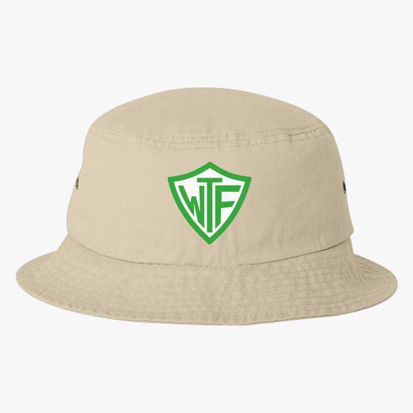87b8d8ca488 Happy Ex-Mormon WTF Shield Bucket Hat (Embroidered) - Customon