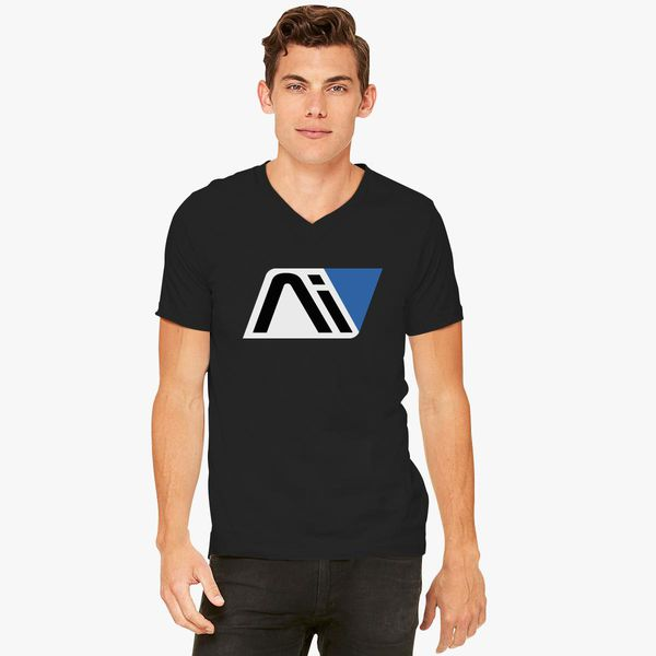 Mass Andromeda Initiative V Logo Effect Customon Neck T Shirt tsQhxrdC