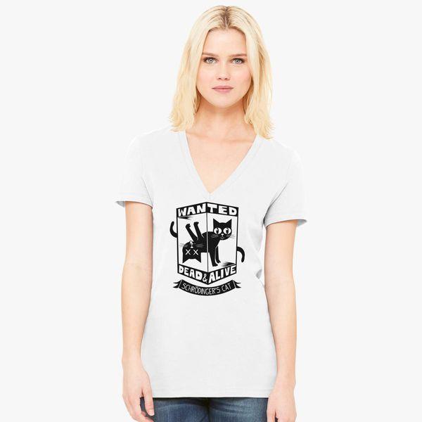 74b8bd6499 The Flash (Cisco s shirt) - Wanted Dead and Alive (Scrödinger s Cat)  Women s V-Neck T-shirt