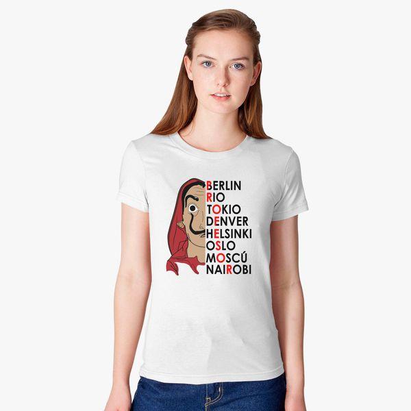 4945cbb107d La casa De Papel New Women s T-shirt - Customon