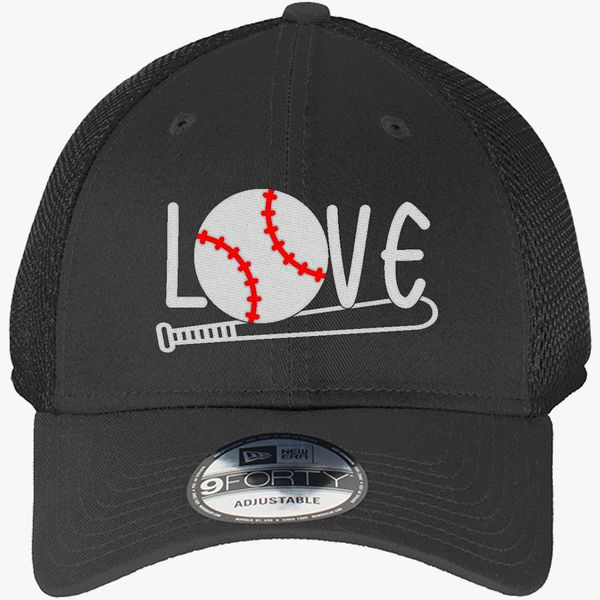 ee492da158f Baseball Mom , Baseball Love New Era Baseball Mesh Cap - Embroidery