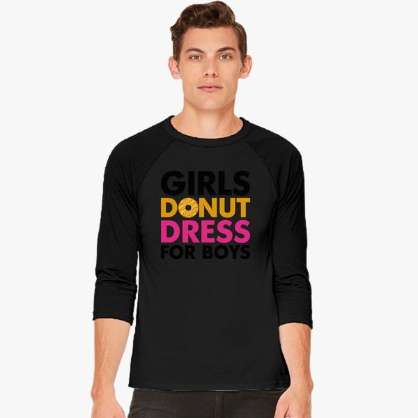 3e1867a05e8ff Girls Donut Dress For Boys Baseball T-shirt - Customon