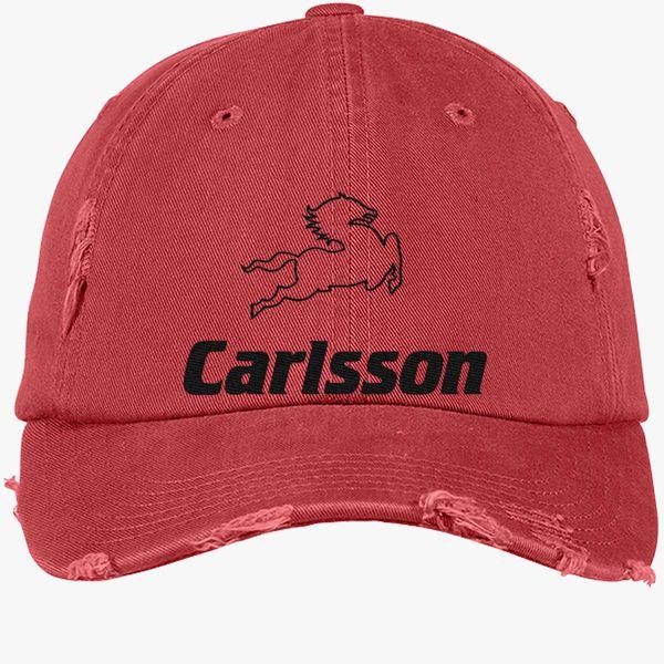 e57c069b0 Carlsson Mercedes Distressed Cotton Twill Cap (Embroidered) - Customon