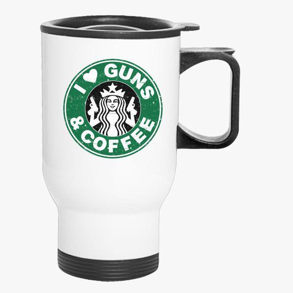 I And Travel Mug Guns Customon Coffee Love WD29EHI