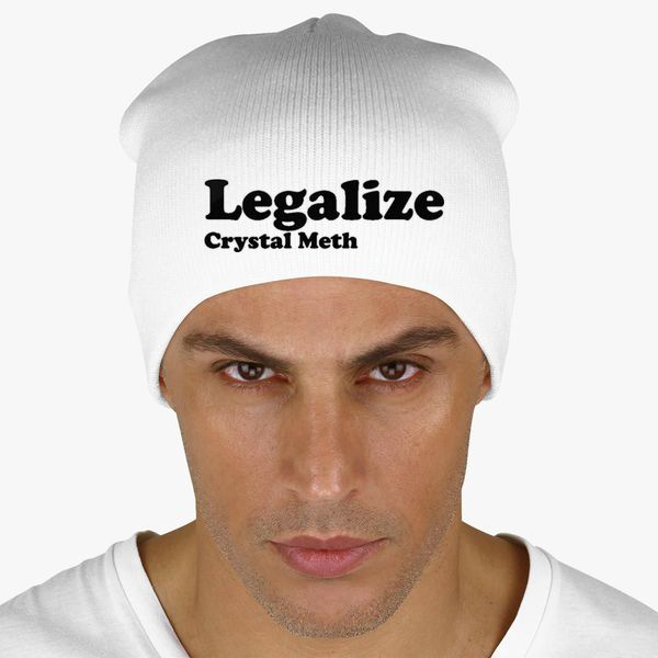2f3cd82aacac7 Buy Legalize Crystal Meth Knit Beanie (Embroidered) - Customon.com in  Customon