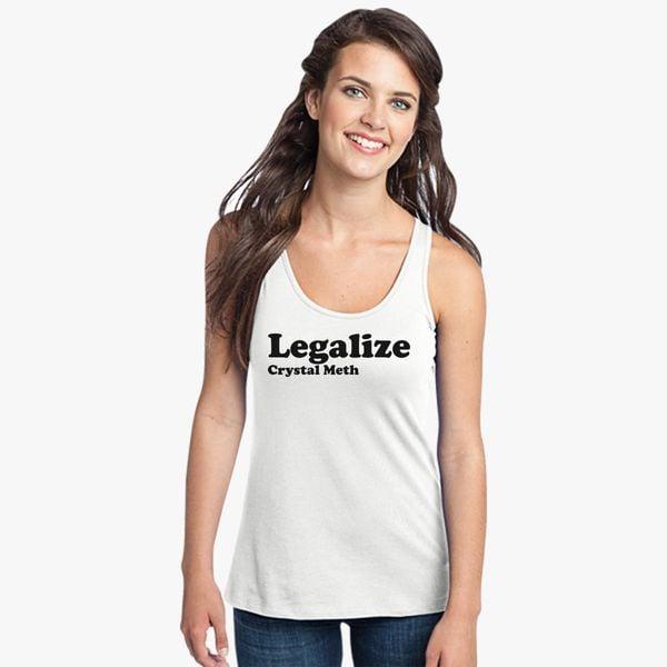 Buy Legalize Crystal Meth Women's Racerback Tank Top, 18398