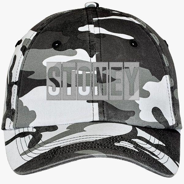 547a6ce9d Post Malone-Stoney Camouflage Cotton Twill Cap (Embroidered) - Customon