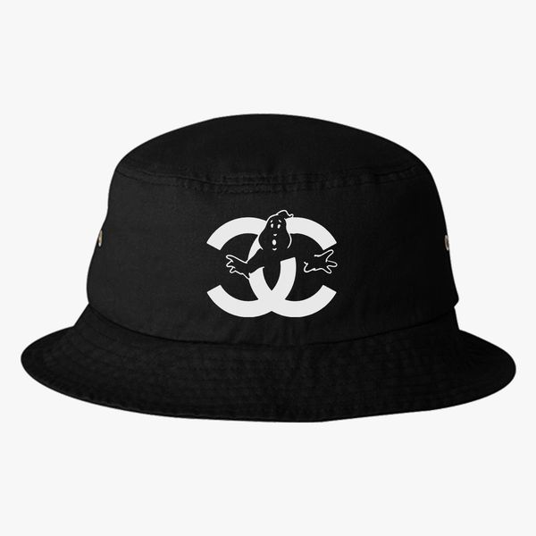 a862393198517 chanel cc parody logo ghost Bucket Hat (Embroidered) - Customon