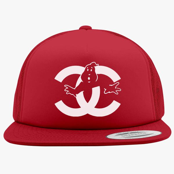 7e809cac2 chanel cc parody logo ghost Foam Trucker Hat - Customon