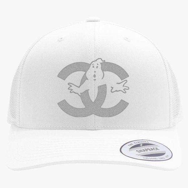 73a813b9a chanel cc parody logo ghost Retro Trucker Hat (Embroidered) - Customon