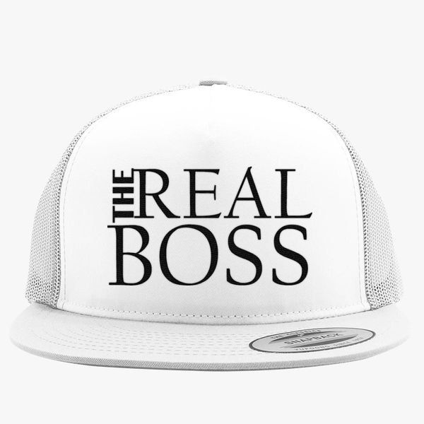 b1648e28c3ee7 THE REAL BOSS Trucker Hat (Embroidered) - Customon